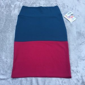 "LuLaRoe ""Cassie"" Fitted A-line Pencil Skirt NWT"